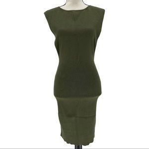 Hera Collection Sleeveless Knit Green Dress Size S